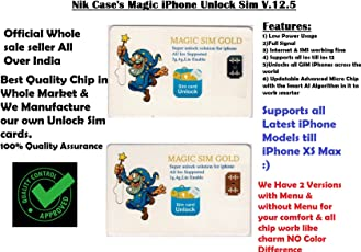 Nik case iPhone Unlock Chip for iPhoneX-8-8p-7-7p-6s-6sp-5-5sp, Very Easy & Fast Auto Plug and Play (M Gold)