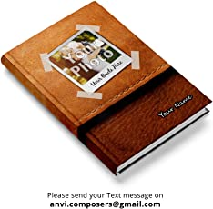 Personalised/Customized Notebook/Diary Size 5.5 x 8.5 inches 240 Blank Pages Hardbound Rounded Corner with Bookmark