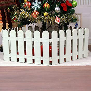 Tinksky Plastic Picket Fence For Christmas Tree Wedding Party