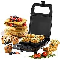 Mini-appareil à bouchées 2-en-1 compact Giles & Posner® EK4488GVDEEU7, 600W, Plaque de cuisson antiadhésive, 50 ml…