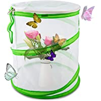 LUTER Insect and Butterfly Habitat Cage Pop Up Design Collapsible Insect Mesh Cage for Science Education 12×14 Inch