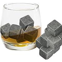 Grenhaven 9pcs Whisky Pierres Ice Cubes Glaçons stéatite Glacons en Pierre avec Sac de Cordon refroidisseurs de Boissons…