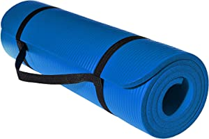 SkyLand Top Yoga Mat, Blue - 10mm Thick