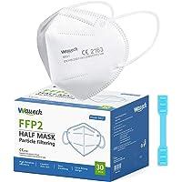 Wawech 30 PCS Mascherine FFP2 certificate CE Mascherine protettive 5 Strati traspirante Mascherine monouso sigillate…