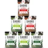 Shore Seaweed - Pesto Collection 6 x 180g   2x Basil, 2x Kale, 2x Red Pepper