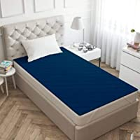 "Galaxy Home Decor Microfiber Mattress Protector 100% Waterproof and Dustproof Single Bed 72"" X 36"" (6 X 3 Feet), Blue…"