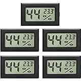 EEEKit 5-Pack LCD Termómetro Digital de Temperatura, Humedad Termómetro, Mini Termómetro Digital Higrómetro y Medidor de Hume