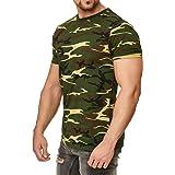 Camiseta de camuflaje militar, color verde