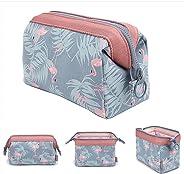 Flamingo Travel Makeup Bag Portable Cosmetic Bag for Women Girls
