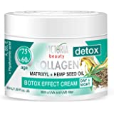 Victoria Beauty Day and Night Anti-Aging Moisturiser with Collagen, Hyaluronic Acid, Matrixyl® 3000, Hemp Seed Oil, and a UVA/UVB Filter for Ages 60-75, 50 ml