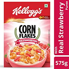 Kellogg's Cornflakes with Real Strawberry Puree, 575g