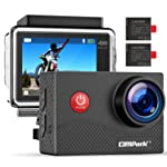 Campark Action Cam 4K WiFi wasserdichte 30m Unterwasserkamera Touchscreen Verstellbarem Sichtfeld Sports Actioncam mit...