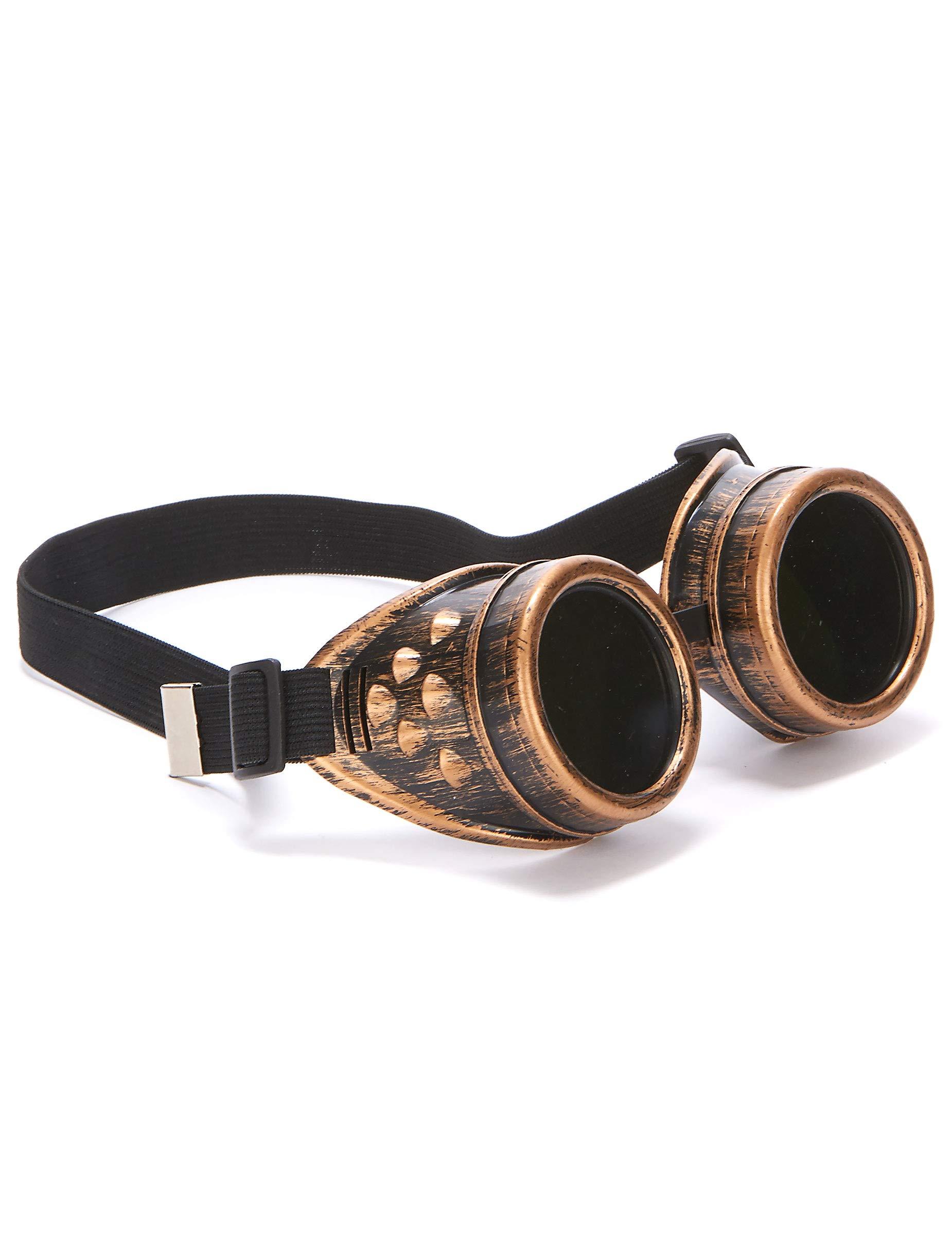 Gafas aviador cobre steampunk adulto