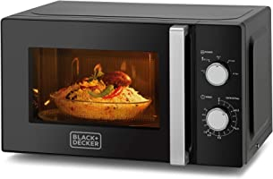 Black+Decker 20l Microwave Oven, Black - Mz2010p-b5