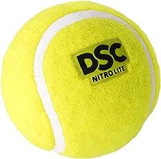 DSC Nitro Light Tennis Cricket Ball (Yellow) Pack of 12