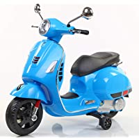 Toyhouse Vespa Rechargeable Battery Operated Ride-on Scooter for Kids(3 to 7yrs), Blue