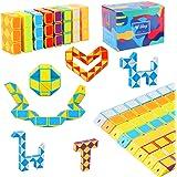 Ulikey 8 Pezzi 24 Blocchi Cubi di Serpente, Magico Twistato Cubo velocità, Mini Giocattolo Puzzle Cubo di Plastica per Bambin