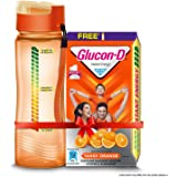 Glucon-D Instant Energy Health Drink Tangy Orange - 1kg Refill with free bottle