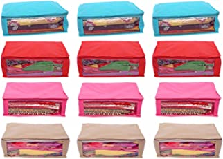 Kuber Industries 12 Piece Non Woven Saree Cover Set