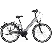 FISCHER City E-Bike CITA 4.0i, Elektrofahrrad, quarzgrau matt, 26 oder 28 Zoll, RH 41 oder 44 cm, Mittelmotor 50 Nm, 48…