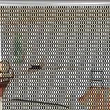 Aluminium Metallkette Vorhang Schädlingsbekämpfung Ketten Vorhang Türvorhang Sichtschutz/ Insektenschutz 90 x 214,5cm (Schwarz)