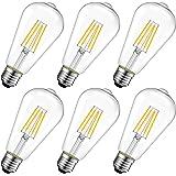 LVWIT Edison LED E27, 11 W vervangt 100 W, 1521 lm, Filament Retro ST64, warm wit 2700 K, vintage gloeilampen nostalgische st