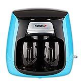 Korona 12207 Compact Koffiezetapparaat | Blauw-Zwart | incl. 2 Keramische Koppen | Permanent Filter | 2 Kops Koffiezetapparaa