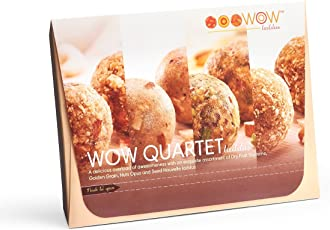 WOW LADDUS. Responsibly Delicious.Indian Sweets Assortment Gift Pack Box(Dry Fruits/Pista Badam/Kaju/Walnut/Almond/Seeds)440 g Set of 12