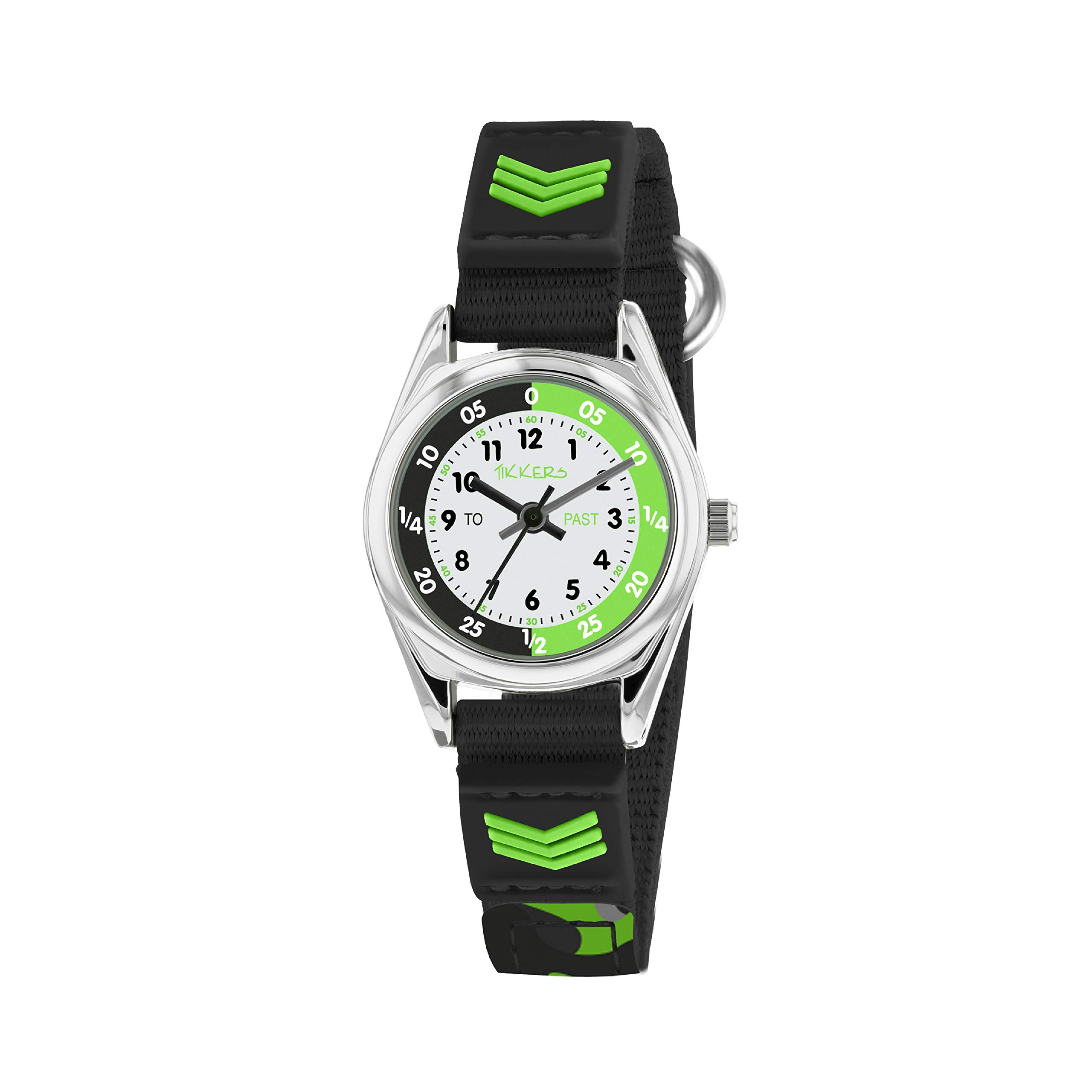 Tikkers Boys Analogue Quartz Watch with Textile Strap TK0154