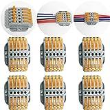 CTRICALVER 6 pcs SPL-5 Conectores eléctricos rapidos,Terminales Eléctricos, Abrazaderas con palanca conexión eléctrica bloque
