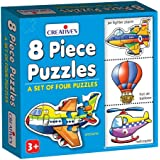 Creative Educational Aids P. Ltd. Wildlife Educational Games & Puzzle , 8 Piece, Multicolour