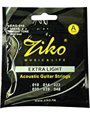 Dhingra Musicals - Ziko Extra Light Acoustic Guitar strings DAG-010(6 Strings)