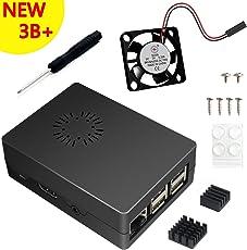 3 in 1 Kit für Raspberry Pi 3 Modell B+ , Schwarz Gehäuse , Lüfter , Kühlkörper
