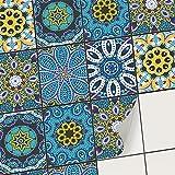 Sticker Autocollant - Adhésif pour carrelage Interieur I Recouvrir Faience Salle de Bain et crédence Cuisine I Décoration Mural (15x20 cm I 6 - Pièces)