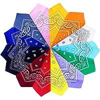 Gudotra 14 Pezzi Bandane per Capelli Donna Uomo Bambini Multicolori Fazzoletti Testa