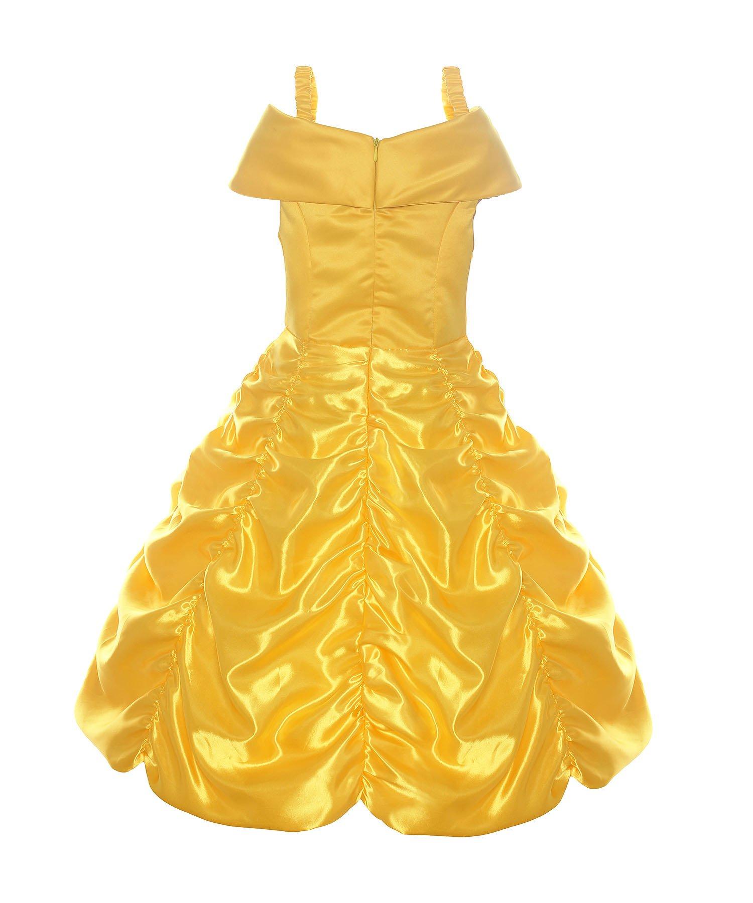 ReliBeauty Girls Dress Belle Cosplay Costume Ragazza Vestiti Abito Principessa Disney Costumi Vestire 2 spesavip