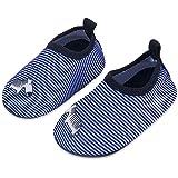 Lauwodun أحذية مائية للأطفال الأولاد والبنات بير فوت أكوا جورب أحذية للشاطئ وحمام السباحة