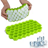 ZARPA (LABEL) 2 Pack Silicone Ice Cube Molds with Flexible 74-Ice Trays BPA Free, for Cake Chocolate Mould Kitchen Baking Too