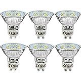 EACLL Bombillas LED GU10 6000K Blanco Frio 6W Fuente de Luz 695 Lúmenes Equivalente 60W Halógena. AC 230V Sin Parpadeo Focos,