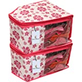 Kuber Industries 2 Piece Non Woven Blouse Cover Set, Pink