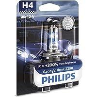 Philips RacingVision GT200 H4 lampe pour éclairage avant +200%, blister de 1