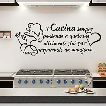 Wall Sticker frase si cucina SEMPRE pensando a qualcuno Altro Che ...