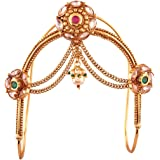 ACCESSHER jewellery Brass Multicolour Gold Plated South Indian Bajubandh/Vanki/ Armlet for Women and girls