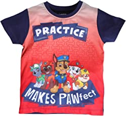 Planet Superheroes Paw Patrol Practice Makes Pawfect Red Ombre T-Shirt