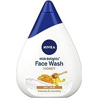 NIVEA Face Wash, Milk Delights Moisturizing Honey, Dry Skin, 50ml