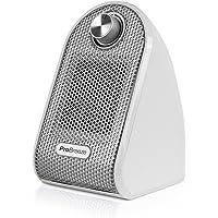 Pro Breeze™ 500W Mini-Keramik-Heizlüfter für den Arbeitsplatz oder Schreibtisch - PTC-Keramik Compact Heizgerät | Weiß