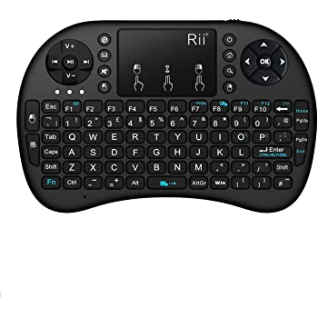 Rii i8s 2.4 GHz KODI XBMC Rechargeable Wireless Mini Keyboard with Touchpad Air Mouse