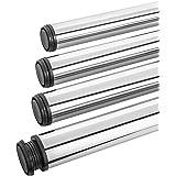Gedotec Tafelpoten roestvrij staal bureau-meubelpoten in hoogte verstelbaar tafelpoten metaal | hoogte 710 mm | steunpoten vo