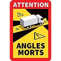 Lot de 3 - Angles morts sur les véhicules lourds - Autocollant waterproof - L.170 x H.250