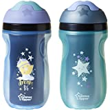 Tommee Tippee Insulated Non-Slip Spill Proof Sipper Tumbler, BPA Free, Boy, Blue & Green, 9 Ounce, 2 Count